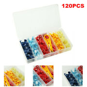 120pcs Heat Shrink Wire Connectors Nylon Car Marine Electrical Terminal Ring Kit