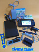 Wii U Console - Black System With Games Remote - Ultimate Nintendo Lot Bundle