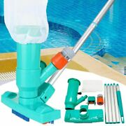 Swimming Pool Vacuum Cleaner Brush Head Tub Spa Pond Cleaning Tool Set With Pole