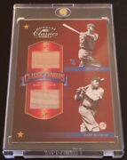 2002 Donruss Classic Combos Babe Ruth And Ty Cobb Game Used Bats 05/15 Hof