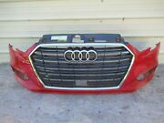 2017-2019 Audi A3 Front Bumper Cover Panel Plastic Red W/ Grill Grille 15 Oem