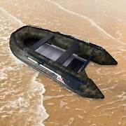 Aleko Inflatable Fishing Boat With Aluminum Floor 6 Prs 12.5 Ft Camouflage