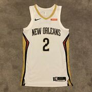 Lonzo Ball Game Worn New Orleans Pelicans Jersey Photomatched Nba Used Nike