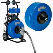 New Drain Cleaner For 4-9 Pipe W/ 5/8 And 3/4 X 100and039 Cables And Drums