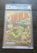 Incredible Hulk 180 Cgc 7.0 Off White 1st Wolverine Apperance Cameo