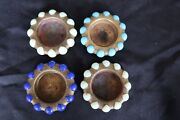 Vintage X4 Art Deco Design Fisher 1930s Jewelry Tray Brass+marbles Pat. 99,857