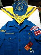 Very Old Vintage Cub Scout Shirt, Cap, Neckerchief And Slide