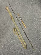 Antique Vintage South Bend Hollow Glass Fishing Rod 78 Cloth Case