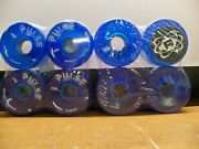 8 New Atom Pulse Outdoor Roller Skate Wheels Blue 78a 65mm Free Priority Sandh