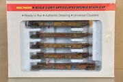 Walthers 932-8113 Weathered Ttx Thrall 5 Unit Articulated Double Stack 5 Car 3nv