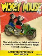 Disney Retro Mickey And Minnie Mouse Motorcycle Wind Up Tin-toy Pin Le 2500 2004