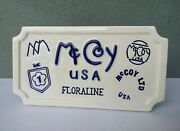 Mccoy Pottery - Rare Dealers Display Sign Plaque