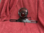 Vintage Duolamp Red Glass Tail Light 12 Volts W Bracket