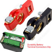 1pair Of Copper Car Battery Cable Terminal Clamp Connector Suitable For Car