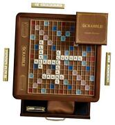 Scrabble Luxury Edition With Rotating Game Board