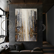 Abstract Oil Painting On Canvas Handmade Building Modern Wall Art Picture 2021