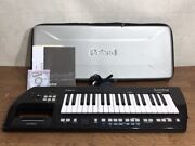 Roland Lucina Ax-09 Shoulder Keyboard Synthesizer With Manual Adapter Case Used
