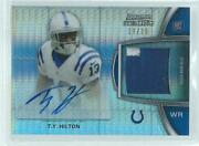 Ty Hilton 2012 Topps Bowman's Sterling Prism Refractor Patch Auto Rc D 29/36