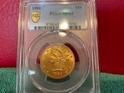 1886 10 Gold Liberty Pcgs Ms63 Scarce Coin