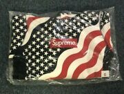 New Rare Sealed 100 Authentic Size Small Red White Blue Flag Box Logo Fw14
