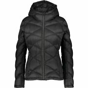 Womenand039s Padded Packable Hooded Down Feather Jacket Black Size L
