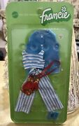 Nip Very Rare 1971 Mattel Barbie Francie Right For Stripes 3367 Doll Outfit