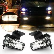 Complete Clear Lens Fog Lights W/bracket For Chevy 1500 2500 3500 Suburban Tahoe