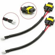 H11b H11 Led Headlight Bulbs Conversion Harness Cable Socket Plug Adapter Wires