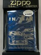 Zippo Lighter Initial D Project D Blue Titanium Ltd With Box Unused From Japan