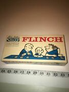 Vintage 1963 Flinch Card Game Parker Brothers Complete 150 Cards, Rules And Die