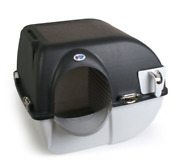Omega Paw Elite Self Cleaning Cat Pet Litter Box Chrome Accents Midnight Black