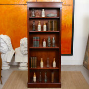 Open Bookcase Mahogany Bookshelves Tall Library Cabinet Antique Vintage Large