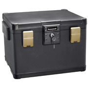 Molded Fire Resistant Waterproof Storage Chest Safe With Key Double Latch Lock