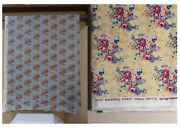 New Daisy Kingdom Welbeck Cotton Stripe And Floral Bouquet Fabric Yellow Or Blue