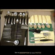 Vintage 80pc Towle Sterling Silver Flatware Service Silver Flutes Pattern