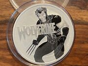 T2 Tuvalu 1 Troy Ounce .999 Silver Round Wolverine