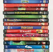 Disney Dvd Lot Of 14 - Hercules Snow White Incredibles Cars Up Lilo Stitch