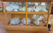 Antique Golden Oak And Glass Lateral Showcase 5and039 W X 42 T X 26 1/2 D