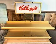 Vintage 2 Shelf Kelloggand039s Cereal Advertising Store Display Stand For Mini Boxes