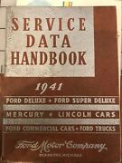 1941 Ford Service Data Handbook Deluxe,mercury,lincoln,trucks,commercial,cars