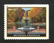 5348 Bethesda Fountain Us Single Stamp Mint/nh Free Shipping