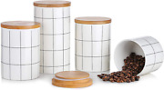 Canisters Sets For Kitchen Counter, Beyonda Kitchen Canisters Set Of 4 Ceramic J