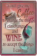 Tin Signs Reproduction Vintage Funny Coffee Wine Metal Sign Home Kitchen Off
