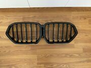 Oem Bmw X6 G06 Front High Gloss Black Shadow Line Kidney Grill Used 51138745303