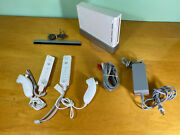 Nintendo Wii Console Bundle Controllers, Wires, And Sensor Bar - Plays Gamecube