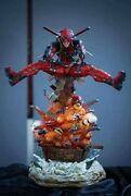 Deadpool Custom 1/4 Scale Statue Displayed New Mint Condition