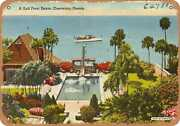 Metal Sign - Florida Postcard - A Gulf Front Estate Clearwater Florida