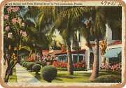 Metal Sign - Florida Postcard - Lovely Homes And Palm Shaded Street In Fort Lau
