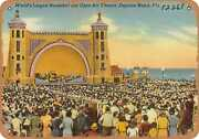 Metal Sign - Florida Postcard - World's Largest Bandshell And Open-air Theatre,