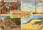Metal Sign - Massachusetts Postcard - Greetings From Provincetown, Cape Cod, Ma